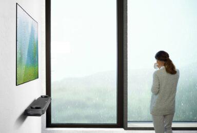 OLED-Fernseher können so dünn sein, dass sie an der Wand nicht auffallen (Bild: LG)