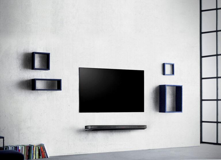 Bilderrahmen oder Fernseher? Die LG Signature OLED-W-Serie ist zumindest nicht dicker.