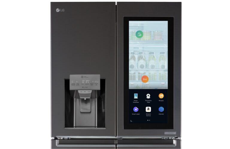 LG Smart Fridge 2017: Kühlschrank mit Alexa und WebOS. Bild: LG