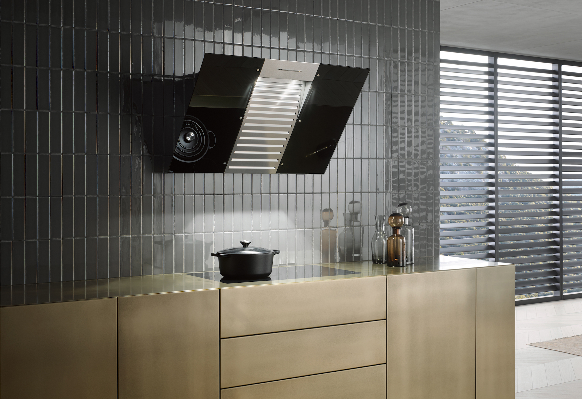 Miele black wing music dunstabzugshaube mit bluetooth soundsystem