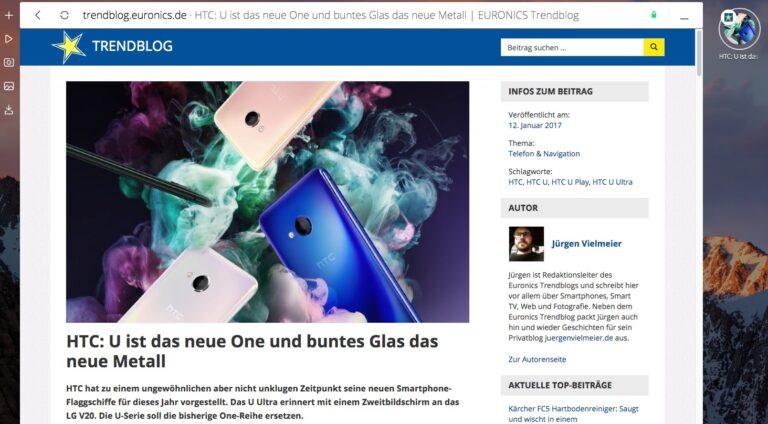 Das Euronics Trendblog im Opera Neon.