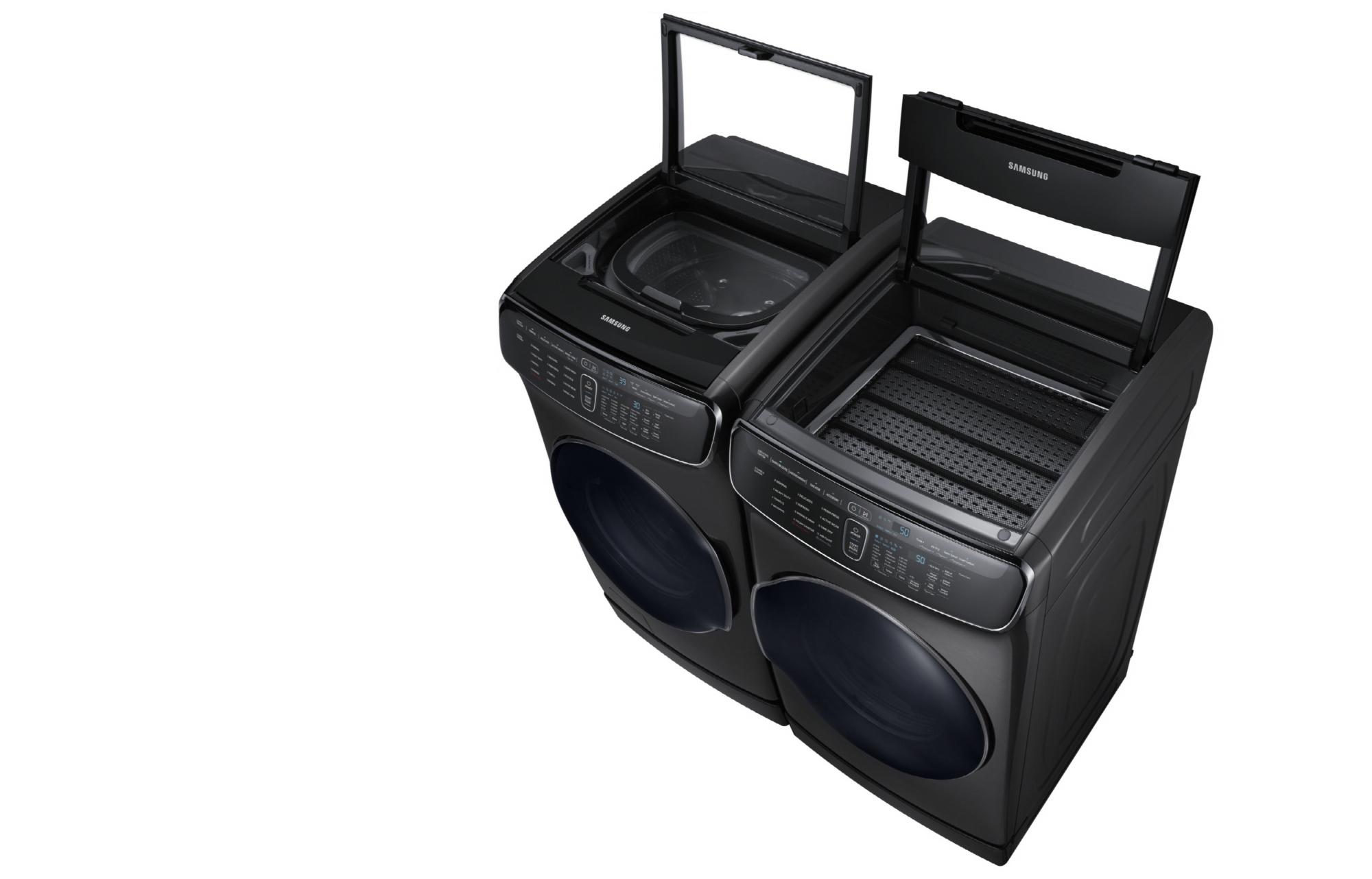 Samsung flexwash die waschmaschine mit trommel und extrafach