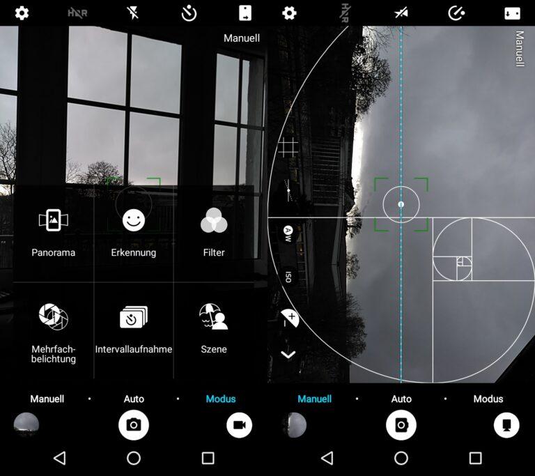 Gute Kamera-App im ZTE Blade A512 mit vielen individuellen Einstellungsmöglichkeiten.