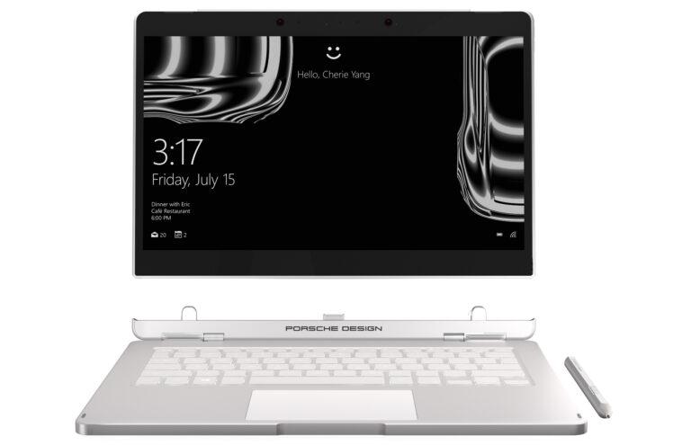Der Bildschirm des Porsche Design Book One lässt sich auch abnehmen und als Tablet nutzen (Bild: Porsche Design)