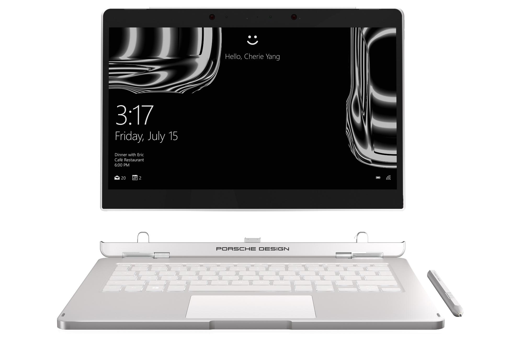 Der Bildschirm des Porsche Design Book One lässt sich abnehmen und als Tablet nutzen (Bild: Porsche Design)