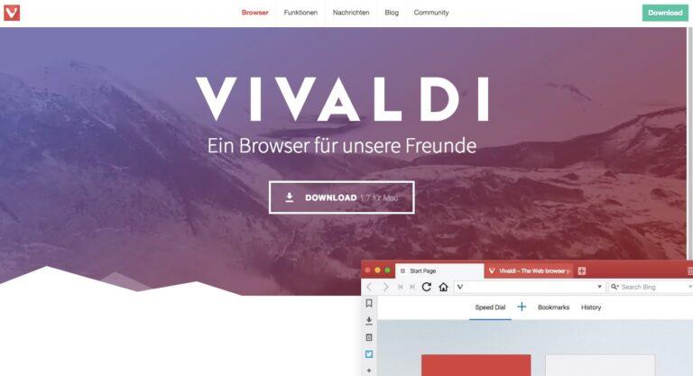 Vivaldi: vielleicht sogar ein Stück besser als Google Chrome
