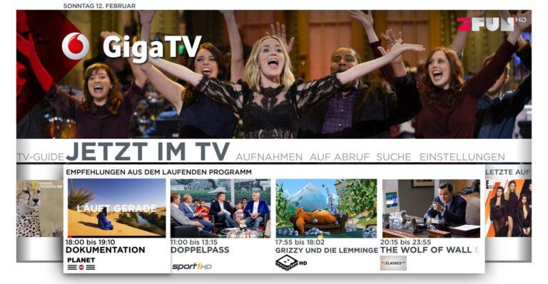 Ein digitaler Kabelanschluss bringt neue Möglichkeiten, zum Beispiel Vodafone GigaTV (Bild: Vodafone)
