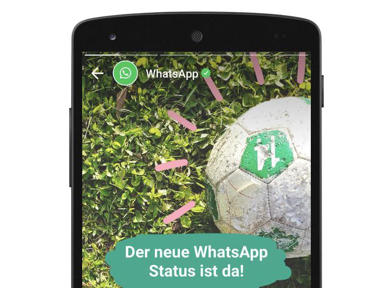 WhatsApp Status soll verhindern, dass Nutzer zu Snapchat abwandern (Bild: WhatsApp)
