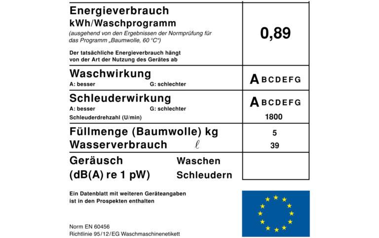 Auf dem Energielabel (unterer Teil) steht viel mehr als nur ein Buchstabe (Bild: commons.wikimedia.org)