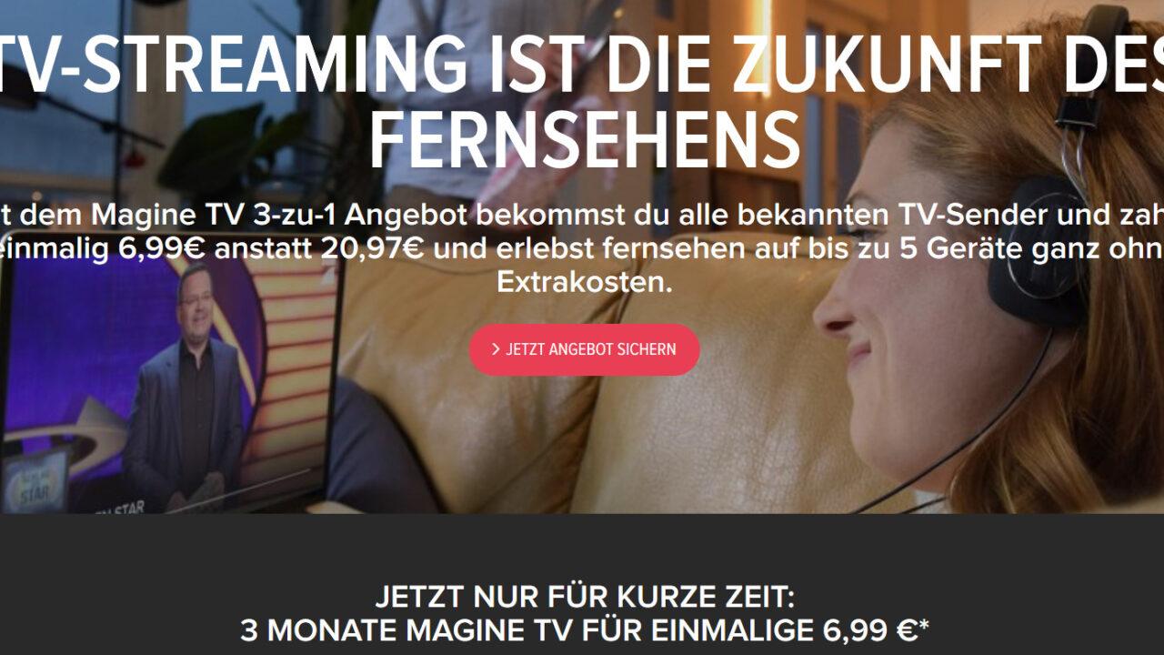 Magine TV mit Kampfpreis: Rechnet sich da DVB-T2 HD noch?