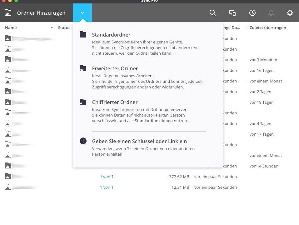 Resilio Sync als privater Cloudspeicher ersetzt die Dropbox