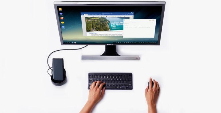 Das Samsung Galaxy S8 (Plus) mittels DeX als Desktop-PC verwenden.