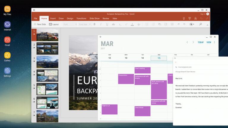 Office-Dokumente auf dem großen Bildschirm bearbeiten: möglich mit Samsung DeX