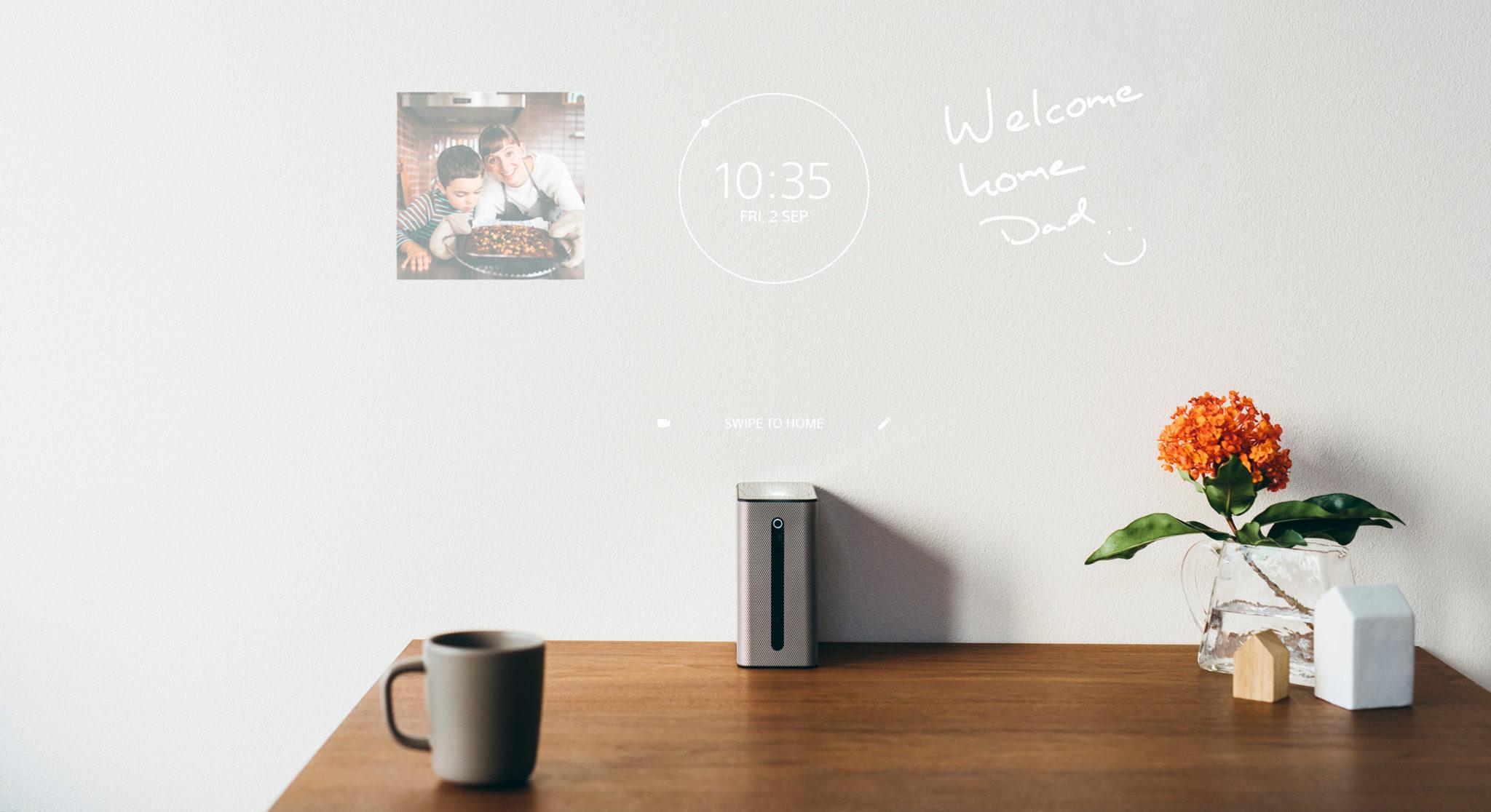 Auch als schwarzes Brett für die Familie taugt der Sony Xperia Touch (Bild: Sony)