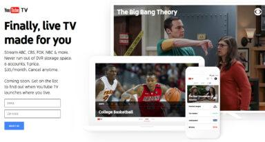 YouTube TV startet im Frühjahr 2017 (Screenshot von tv.youtube.com)
