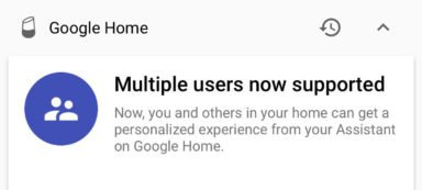 Google Home mit Multiuser-Support (Bild: Twitter/@ow)