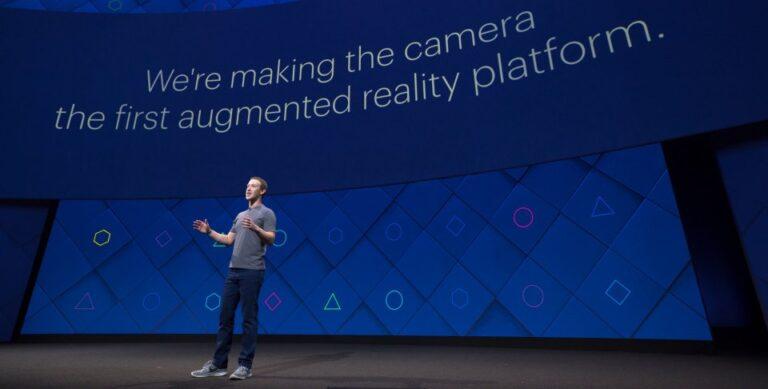 Mark Zuckerberg erklärt Augmented Reality (Bild: Facebook)