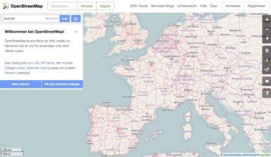Open Street Map: Umfangreiches, etwas komplexeres Tool als Google Maps