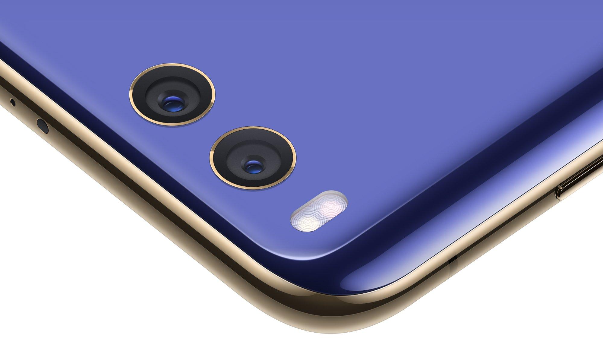 Xiaomi Mi 6 mit Dual-Kamera und zu allen Seiten rund geschliffener Glasrückseite (Bild: Xiaomi)