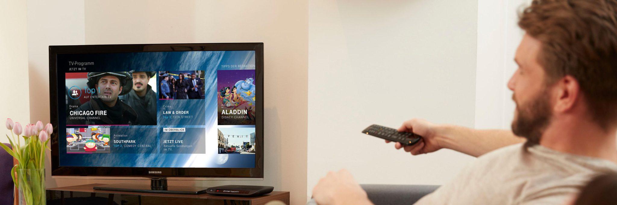 T-Entertain, das IPTV-Angebot der Deutschen Telekom, bietet zwar ein stabiles Bild, zeigt die Tore aber nicht als Erster (Bild: Telekom)