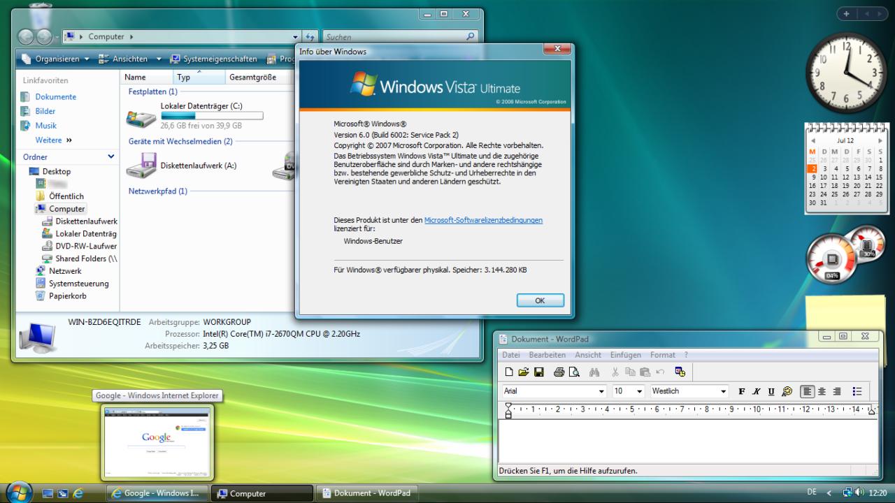 Tschüss, Windows Vista! Es war nicht besonders schön mit dir…
