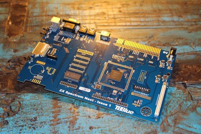 Komplett neue Platine mit alten Chips. (Foto: ZX Spectrum Next)