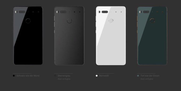 Essential Phone: bald verfügbare Farben