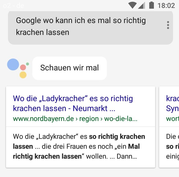 Nordbayern is the place to be, sagt Google.