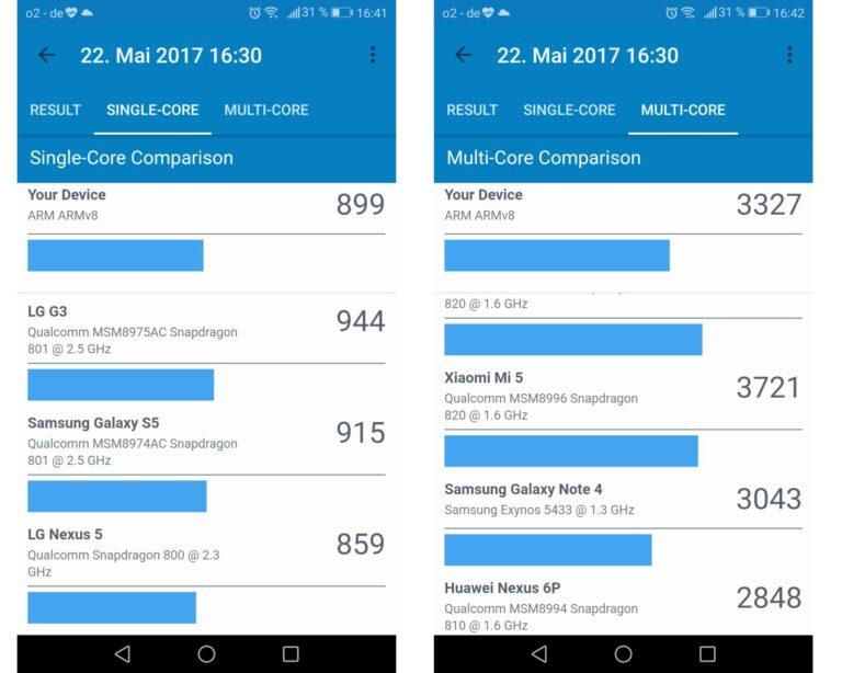 Das Huawei P10 Lite im Geekbench-Benchmark