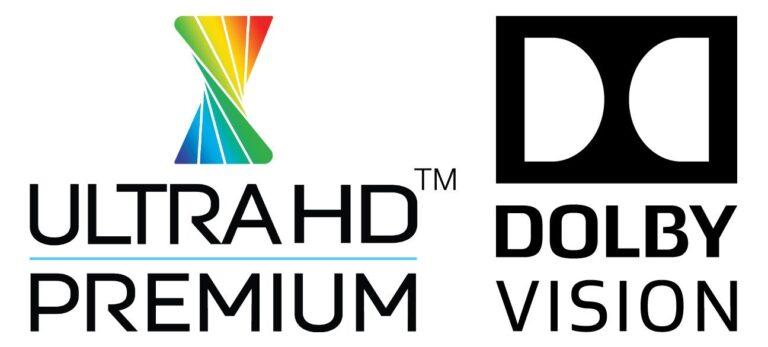 An diesen beiden Logos lässt sich die Bildqualität in HDR und Dolby Vision erkennen