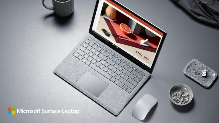 Günstig ist das Surface Laptop nict. (Foto: Microsoft)