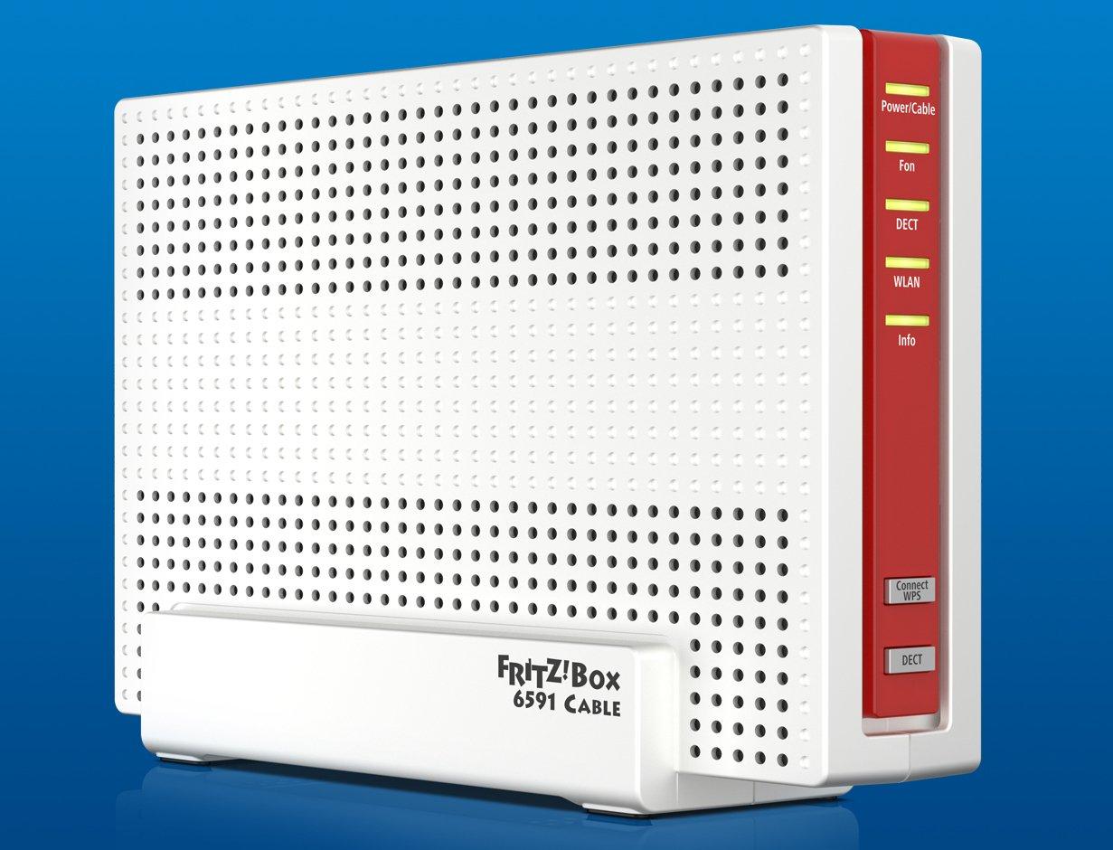 Der Kabelrouter AVM Fritzbox 6591 Cable beschleunigt die Downloads per DOCSIS 3.1 im digitalen Kabelnetz (Bild: AVM)