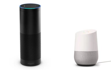 Amazon Echo und Google Home (Bilder: Amazon, Google)