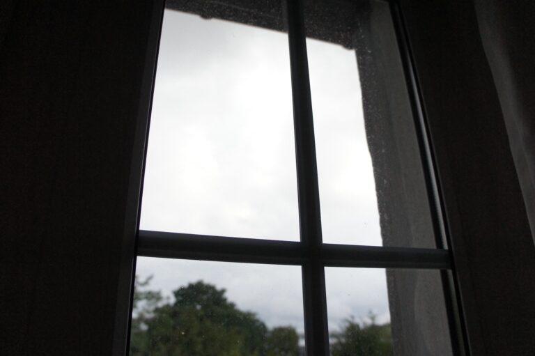 Mein Arbeitszimmerfenster vorher...
