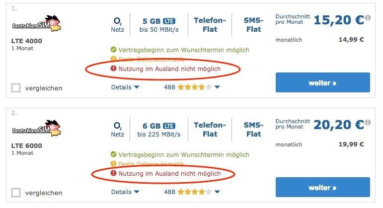Von wegen Freiheit: Erste Mobilfunkverträge ohne Roaming tauchen auf
