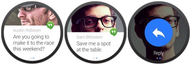 Notifications unter Android Wear