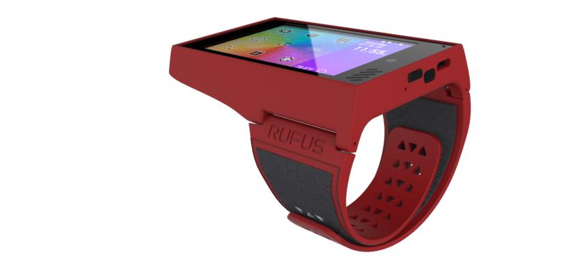 Die Rufus Cuff ist eine übergroße Smartwatch, die unter einem vollwertigen Android läuft (Bild: Rufus)