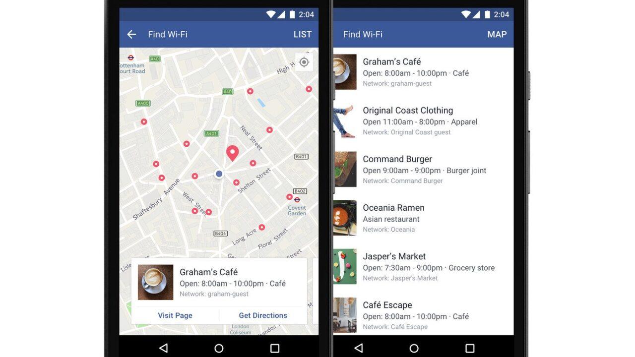WLAN-Hotspots finden mit Facebook