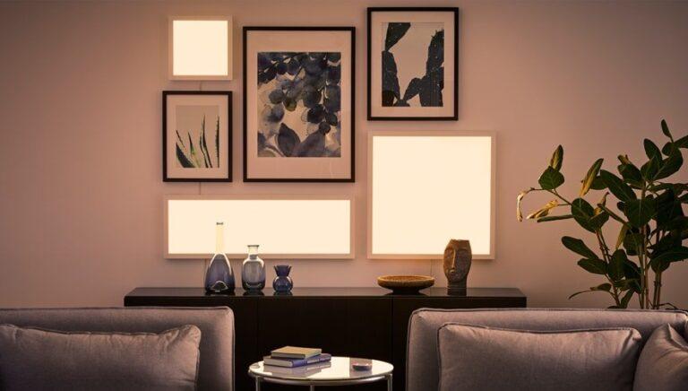Die Licht-Paneele sind eine hübsche Hue-Alternative. (Foto: IKEA)