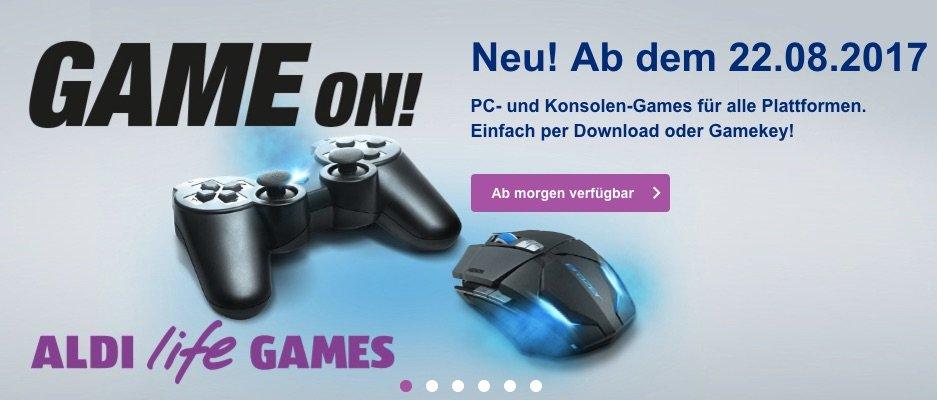 Pünktlich zur Gamescom: Aldi startet eigene Spieleplattform Aldi Life Games