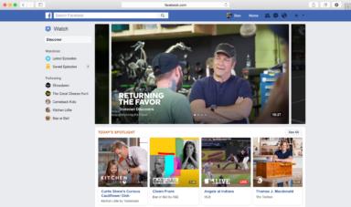 So sieht Facebook Watch im Browser aus (Bild: Facebook)