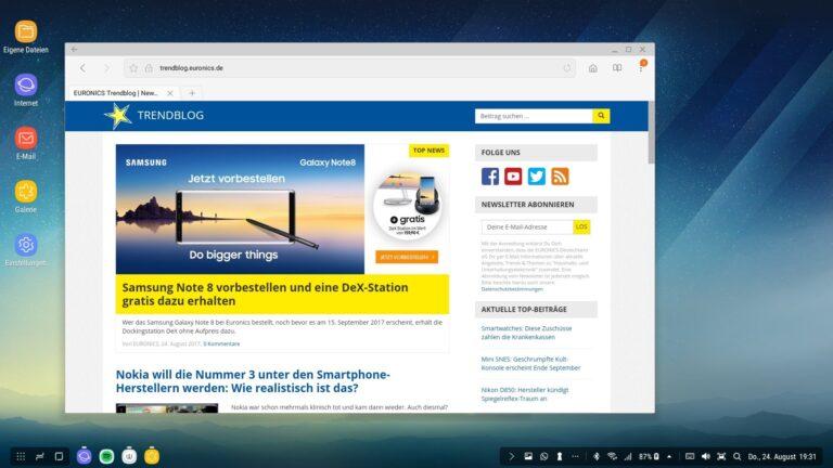 Euronics Trendblog: Bei Dex wie auf einem anderen Desktop-System auch.