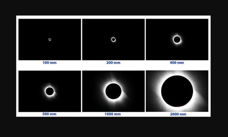 Sonnenfinsternis: Nur mit starkem Teleobjektiv überhaupt sichtbar. Bild:  Imelda Joson/ Edwin Aguirre