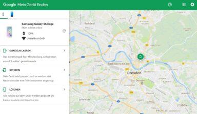 Gerät finden mit Google. (Foto: Screenshot)