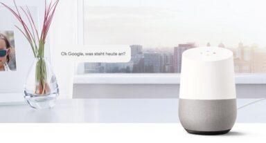 Google Home ist ein smarter Speaker mit Google Assistant. (Foto: Google)