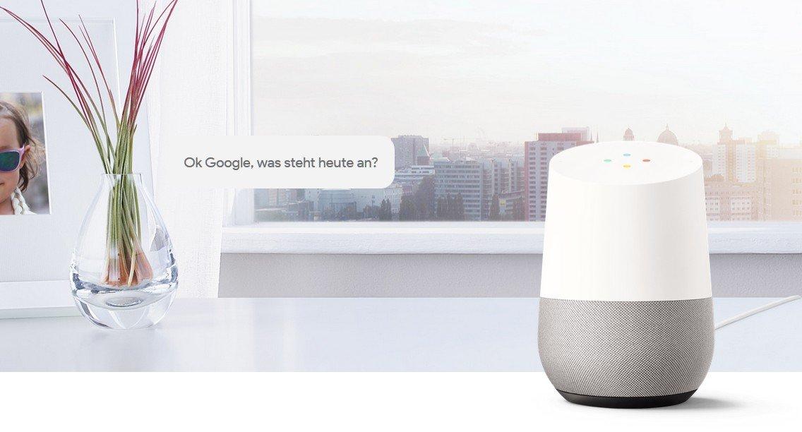 Google Home: Smarter Lautsprecher jetzt in Deutschland erhältlich