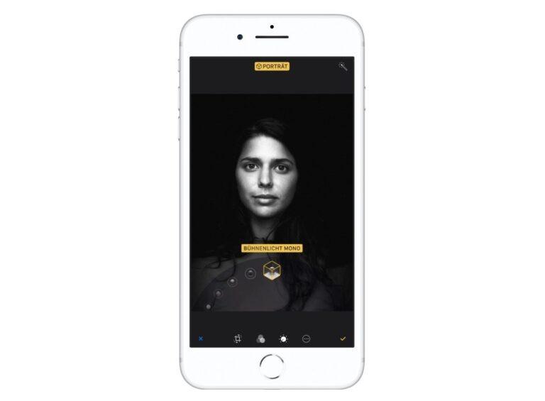 Dürfte ein Gamechanger werden: Das Porträtlicht im iPhone 8 oder X lässt den Hintergrund auf Wunsch verblassen.