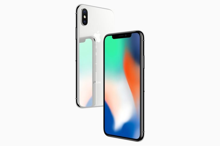 Das iPhone X in silber