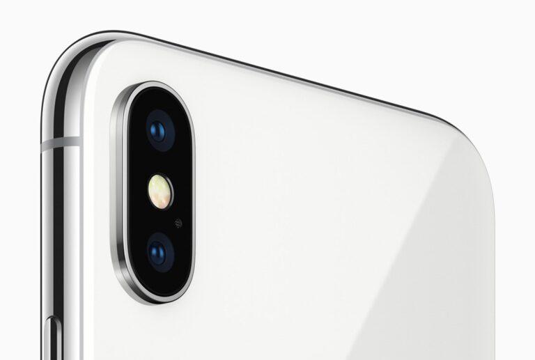 Das Kamerasystem im Apple iPhone X: Dualkamera mit optischem Bildstabilisator für beide Linsen.