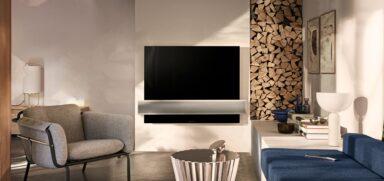 Fernseher mit 4K-Auflösung wie der B&O BeoVision Eclipse 4K OLED-TV setzen sich langsam durch (Bild: B&O)